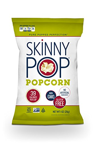 SKINNYPOP Original Popped Popcorn, Individual Bags, Gluten Free Popcorn, Non-GMO, No Artificial Ingredients, A Delicious Source of Fiber, 1 Ounce (Pack of 12)