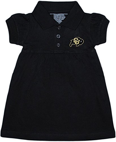 (Creative Knitwear University of Colorado Buffaloes Polo Dress/Bloomer Black)