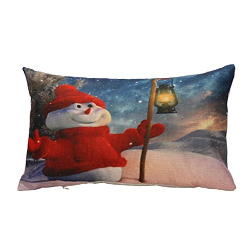 Great Costumes Ideas 2016 (Gotd Christmas 12x20 Pillow Covers Long Shape Car Sofa Waist Pillowcase Decorations Decor Art Square Cotton Linen Pillowcase Xmas Cushion Cover Pillow Case Throw Pillow Cushion Cover (A))
