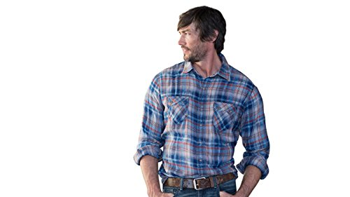Ryan Michael - Clay Plaid SW Etch Snaps Saw Tooth Pocket Western Style Shirt