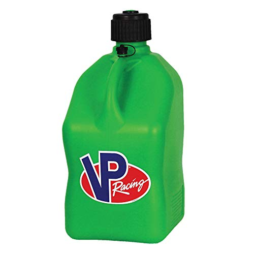 2 Pack VP 5 Gallon Square Green Racing Utility Jugs with 2 Deluxe Filler Hoses by VP Racing Fuels (Image #1)