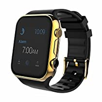 Aipker Bluetooth Smartwatch Phone for Android and IOS Smart Phones (Gold)