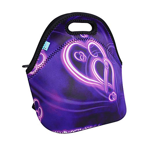 Lunch Boxes, OFEILY Lunch Tote Lunch bags with Neoprene(Middle, Purple heart) ()