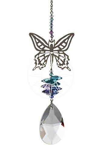 602dfc0d6 50mm Almond New Large Swarovski Crystal Fantasy Hanging Suncatcher/Rainbow  Maker BUTTERFLY