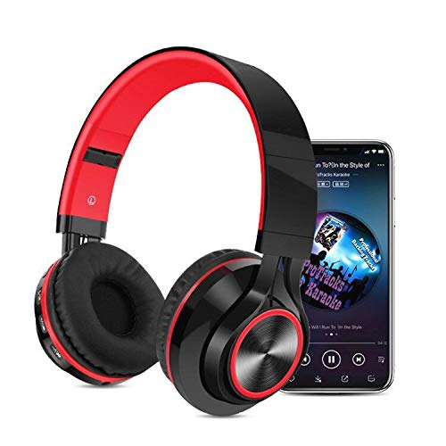 HAHAP Bluetooth Headphones Over Ear,Wireless Bluetooth Foldable Headphones Hi-Fi Stereo Headset with Mic SD/TF Card for PC/Cell Phones/TV