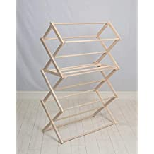 Pennsylvania Woodworks Clothes Drying Rack (Made in the USA) Heavy Duty 100% Hardwood (Large)