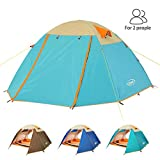ZOMAKE 2 Person Camping Tent, Lightweight Backpacking Tent Waterproof 4 Season Tent Easy