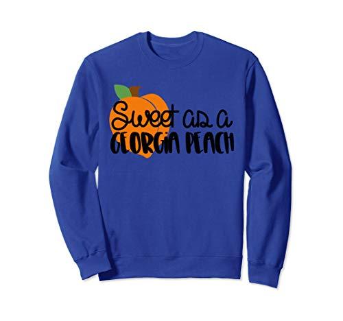Sweet as a Georgia Peach t shirt with bright peach Sweatshirt ()