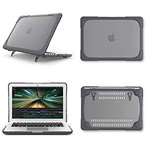 SPESSN [Heavy duty Series] Hard Shell Protective Cover Case, Apple Macbook Pro Retina 15 Inch Model A1398 Case (Grey)