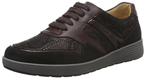 Ganter Damen Sensitiv Klara, Weite K Sneakers, Rot (Vino / Schwarz 4201), 40 EU