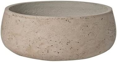 Elegant Fiberstone Grey Planter Pot 4 H x 9.5 – By Pottery Pots