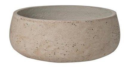 Elegant Fiberstone Grey washed Planter Pot 4.5 H x 11.5 – By Pottery Pots