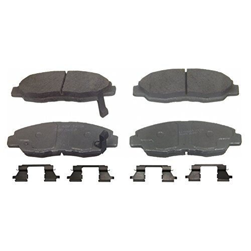 Wagner ThermoQuiet QC465A Ceramic Disc Pad Set With Installation Hardware, Front