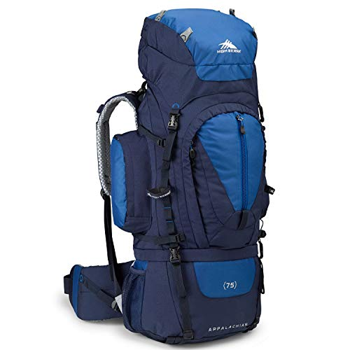 High Sierra Appalachian 75 Internal Frame Backpack, True Navy/Royal/True - Pack Trek Frame Internal