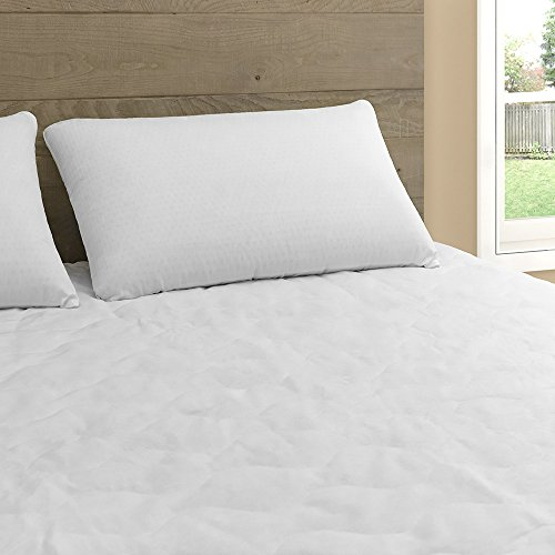 Beautyrest 300 Thread Count Long Staple Cotton Mattress Pad | Hypoallergenic Mattress Topper with Expand-A-Grip Skirt Full