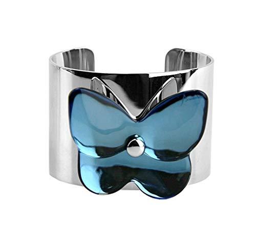 Baccarat Jewelry Papillon Butterfly Riviera Clear Large Bracelet Sterling Silver