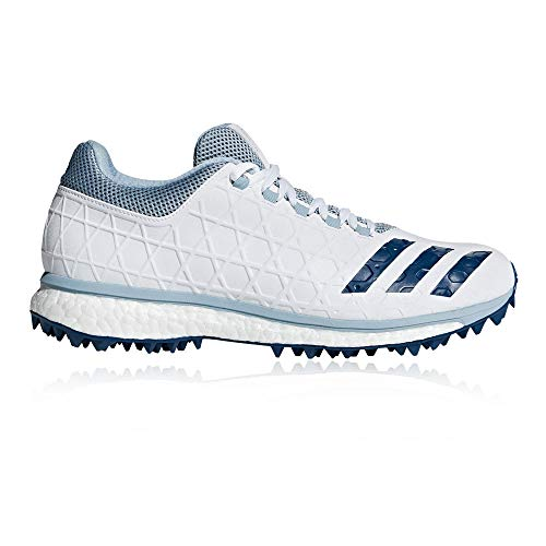 adidas Adizero SL22 Boost Mens Adult Cricket Spike Shoe White/Blue - UK 8