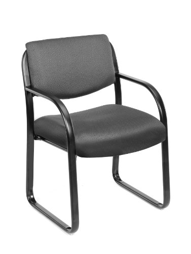 Boss Office Products B9521-GY Fabric Guest Chair in Grey
