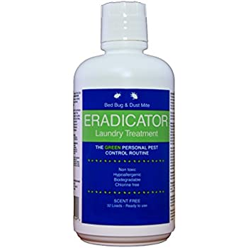 Bed Bug and Dust Mite ERADICATOR Laundry Treatment, Non-Toxic and Ready to Use, 32 Ounce Bottle