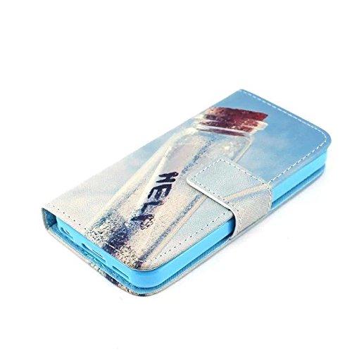 IPhone 5s Housse en Cuir Wallet Flip Case -Yaobai Protecteur Wallet Shell Housse Coque Etui avec TPU Soft Skin Case Cover avec des fentes de carte de credit Pour Apple iphone 5s