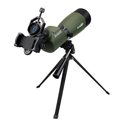 SVBONY 20-60x60/25-75x70mm Shooting Spotting Scope Bak4 Prism Spotting Scope Telescope IP65 Waterproof FMC Optical Lens with Tripod and Phone Adapter by SVBONY