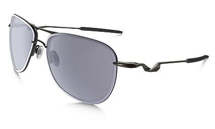 25f73627a Oakley Tailpin Aviator Polarized Sunglasses (OO4086-05) (Grey Polarized)