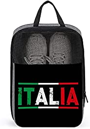 Italy Flag Travel Golf Shoe Bag Waterproof Carry Tote Bag For Sport Tennis And Other Accessories