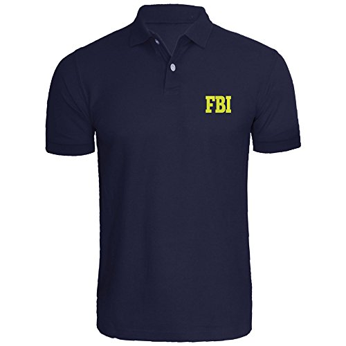 Mens FBI Federal Agent Embroidered Polo Shirts Men Tee