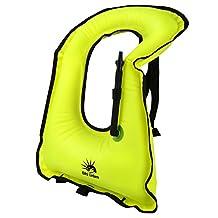 DAS Leben Portable Inflatable Snorkel Jacket, Snorkel Vest Adult , Life Jacket for Dive Safety Water Safety Youth or Adult