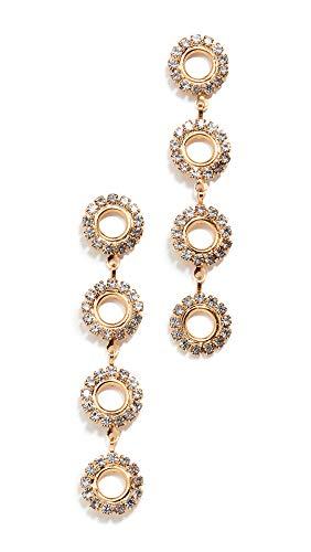 Crystal Earrings Linear Drop - Elizabeth Cole Women's Minka Linear Drop Earrings, Crystal, Clear, Gold, One Size