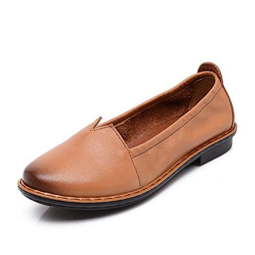 Zapatos planos con mi mamá/Media de las mujeres fondo suave confortable y zapatos de las mujeres de edad/ ronda en la primavera y el periodo de los zapatos del pueblo B