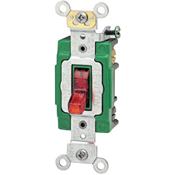 leviton 1288 30 amp 120 volt toggle double pole ac quiet switch leviton 3032 plr 30 amp 120 volt toggle pilot light illuminated on double pole ac quiet switch extra heavy duty grade self grounding back and side