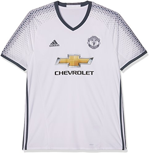 adidas Manchester United FC Official 2016/17 SS Third Jersey - Adult - White/Bold Onix - Small