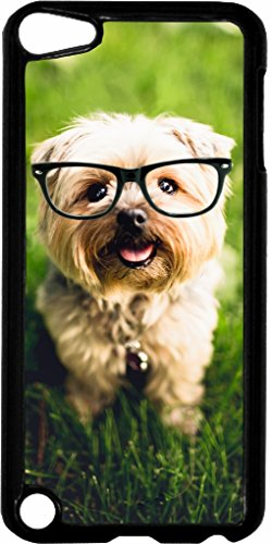 Hipster Yorkie Jacks Outlet TM Hard Black Plastic Case for the Apple iPod Touch 6th - I Sunglasses Factory
