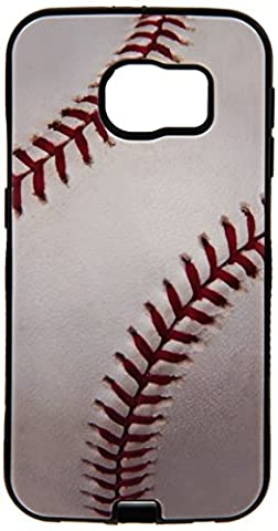 Asmyna Carrying Case for Samsung G920 (Galaxy S6) - Retail Packaging - Baseball-Sports (Zte Warp Sync Rubber Phone Case)