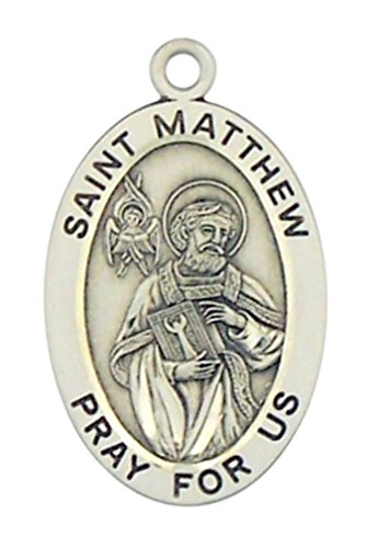 patron-saint-matthew-pray-for-us-1-1-4-inch-sterling-silver-pendant