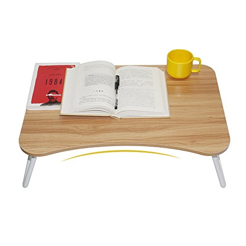 Wooden Laptop Desk and Bed Tray,Folding Laptop Table With Writing,Drawing and Computer Games, 23.4