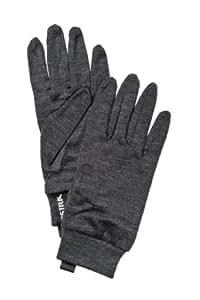 Mens Merino Wool Liner Active Glove Liner - 5 - CHARCOAL