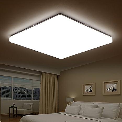lzhing LED Bombilla Cálido minimalis Mesas Moderno dormitorio lámpara de techo IKEA ligero Balcón restaurante Escaleras en el estudio Piso Leuchten, cuadrado 28 * 28 cm bicolor: Amazon.es: Iluminación