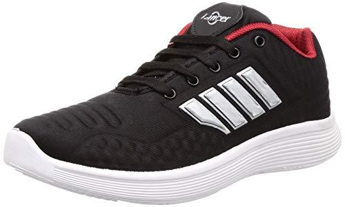 Lancer Men's Black Hiking Shoes-8 UK (42 EU) (AIR-1BLK-RED-8)