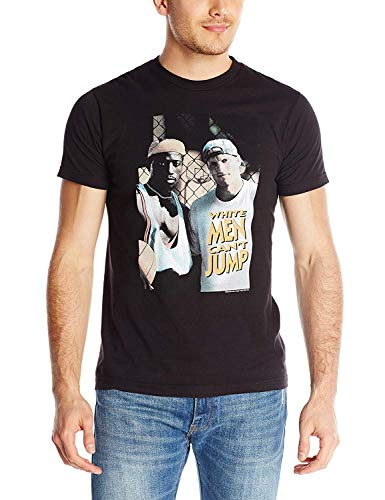 White Men Can't Jump Men's White Men Poster Graphic T-Shirt (Black, XXX-Large)
