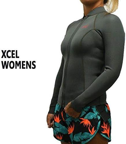 XCEL/エクセル レディース用 2/1mm AXIS L/S JACKET WET SUITS/ウェットスーツ JBJ タッパ [並行輸入品]