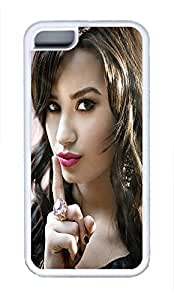 5C Case, iPhone 5C Case Galaxy Pattern Demi Lovato iPhone 5C Shoockproof White Soft Case Full Body Hybrid Impact Armor Defender Cover protective Case for iPhone 5C