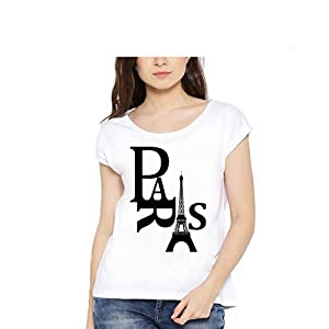 Lime Printed Round Neck T Shirts For Women