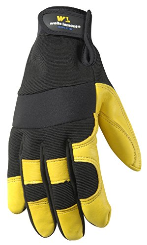 Women's Winter Work Gloves, Insulated Deerskin, 60-gram Insulation, Ultra Comfort, Medium (Wells Lamont 3213M) ()