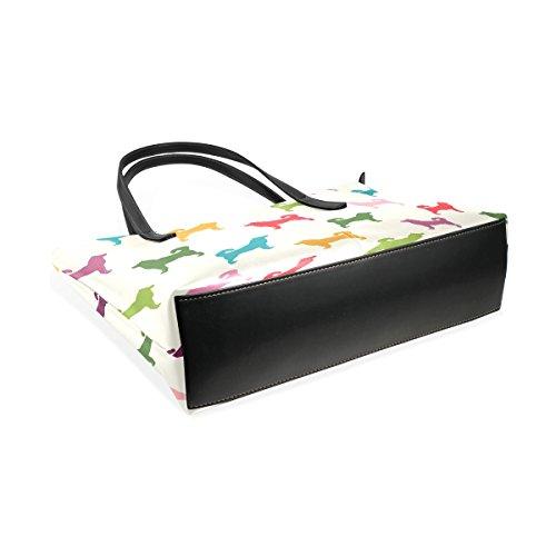 Bags Handle Totes Leather Puppy Dogs Women's Handbag PU Shoulder Purses Top Fashion Colorful TIZORAX wzaPx4z