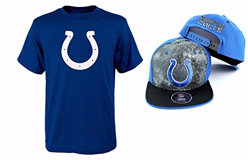 - Outerstuff Indianapolis Colts NFL Youth Size Performance T-Shirt with Cap Set (Youth Medium 10/12)