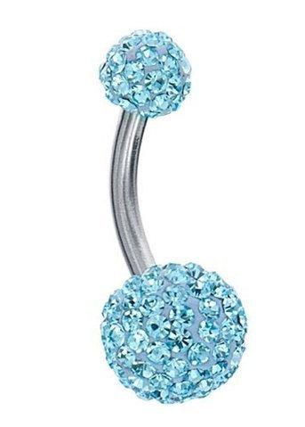 Amazon Com Swarovski Belly Ring Swarovski Crystal Stones Double Gem
