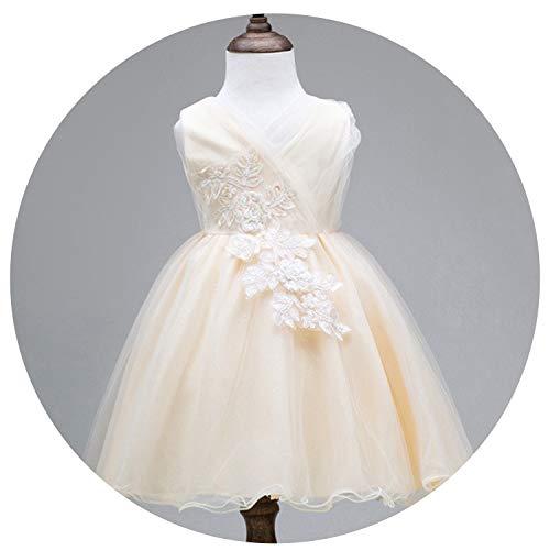 Princess Girls Dress 2019 Summer Lace Performance Evening Party Dress Kids Dresses for Girls Wedding Dresss,Champagne2,7 ()