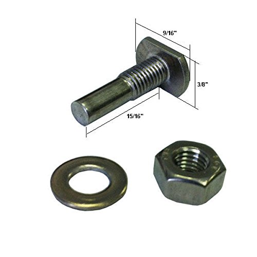 Shower Door T-Bolt, Hex-Nut and Washer for Pivot Shower Doors. by Gordon Glass Co.
